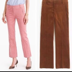 .CREW SAMMIE PANTS IN CORDUROY BROWN CROPPED